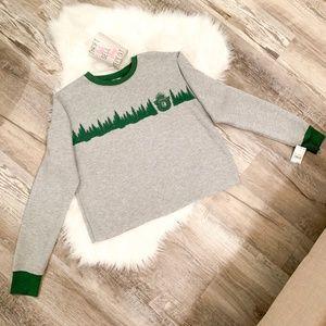 Mighty Fine Tops - NEW Smokey The Bear Cropped Sweatshirt